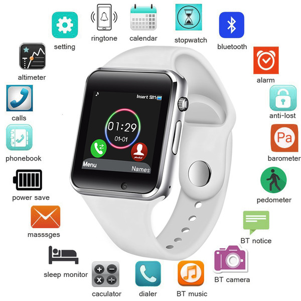 top popular Bangwei Women Sim Tf Push Message Camera Bluetooth Connectivity Android Phone Sports Pedometer Digital Smart Watch J190515 2020