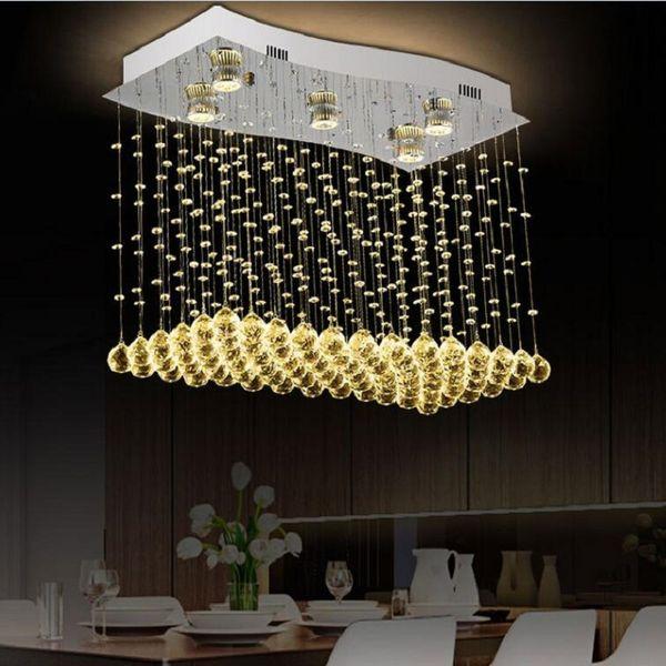 Modern Crystal drop Wire Chandelier Lighting Cystal Lustres de Cristal Chandeliers for Home Indoor Living Room and dining room