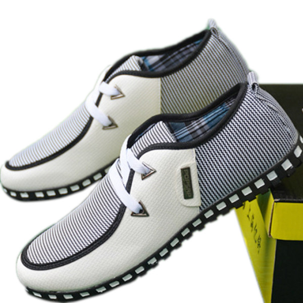2019 Spring Autumn Mens Shoes Casual Low Heels Flat Black Shoes Fashion Classic Light Breathable White Sneakers Size 39-46