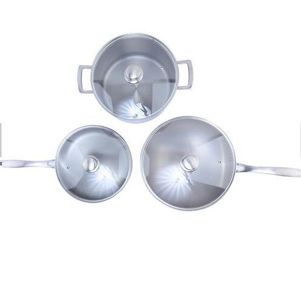 titanium Master Nonstick ceramic & Sauce Pot With Induction Bottom Most popular eco-friendly restaurant titanium soup pot with glass lid