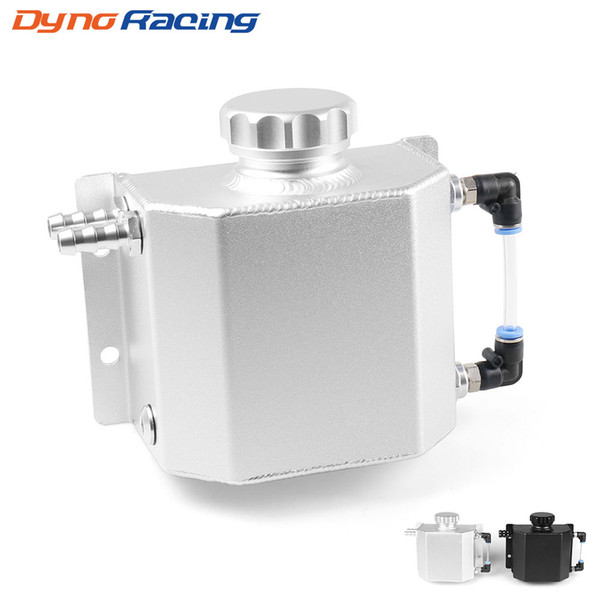 Universal 1L Alloy Aluminium Engine Oil Catch Can Breather Tank Mirror Polished