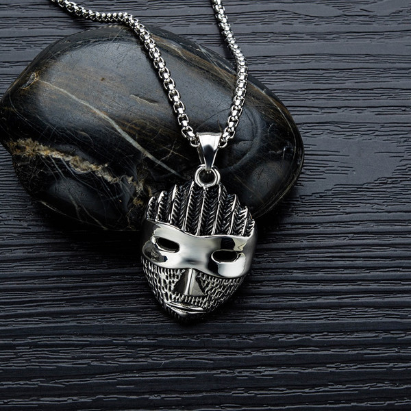 20-27 Size : 2.Pendant+55CM Chain Stainless Steel Cross Pendant Men and Women Personality Retro Military Brand Titanium Steel Necklace