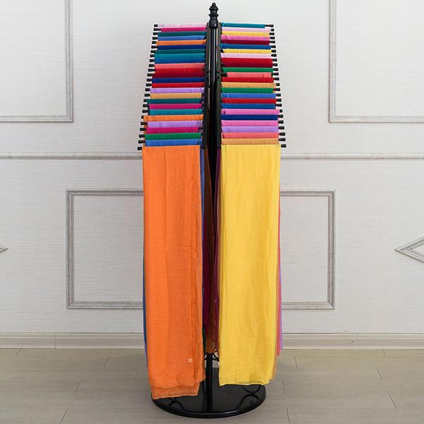 Loja de roupas de Ferro Forjado Dupla Linha Cachecol Vestindo Scarves Display Console Cabide Rack Pendure Cachecol Prateleiras