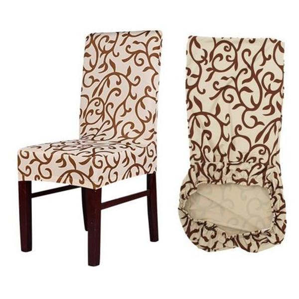 Acheter Fleur Impression Amovible Chaise De Mariage Couverture Grand  Élastique Housse Couverture Cuisine Moderne Seat Seat Stretch Chaise  Couverture ...