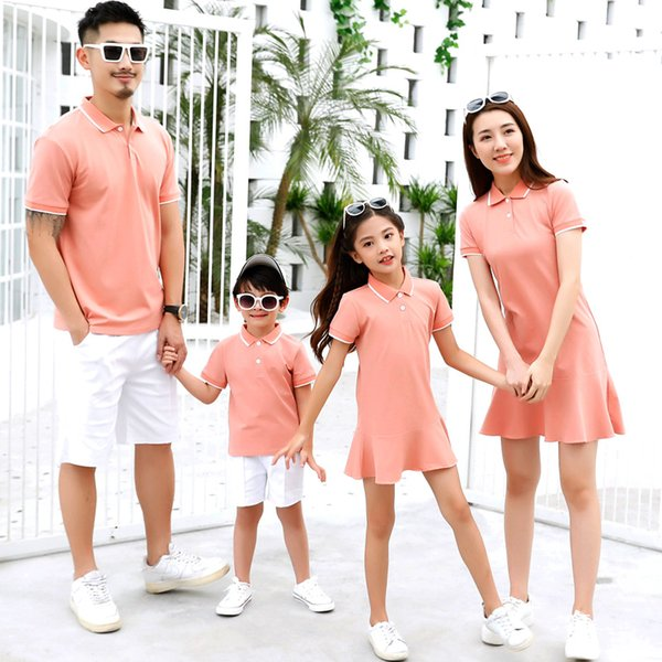 2019 New Family Look Matching Mother and Daughter Father Son outfits Clothes mom and Daughter Dress Men family clothes