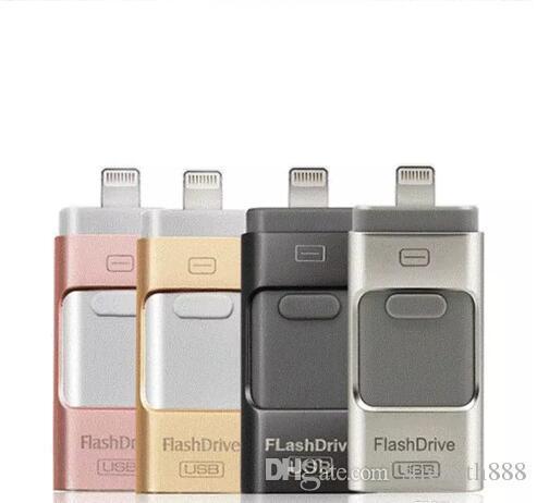 İphoneU Disk 3 için USB flash sürücü 1 Kalem Sürücü USB Flash Sürücü U Disk Memory Stick Apple iPhone 5 5 S 6 6 s artı iPad OTG Pendrive