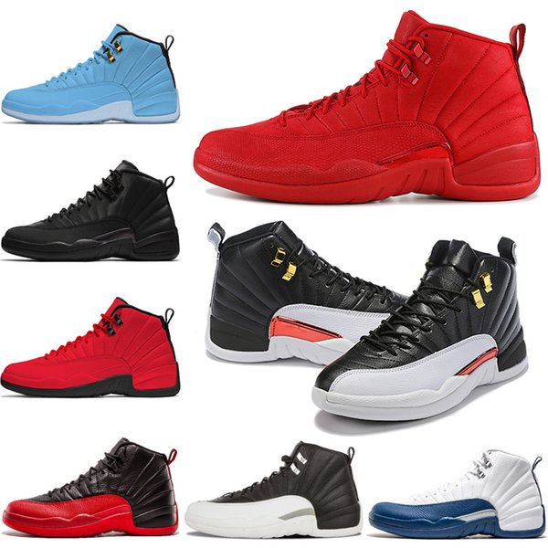 Reverse Taxi 12s Basketball Shoes 12 Men Game Royal Dark Grey FIBA College Navy Bulls Mens Trainers Outdoor Sports Sneakers Free Shipping