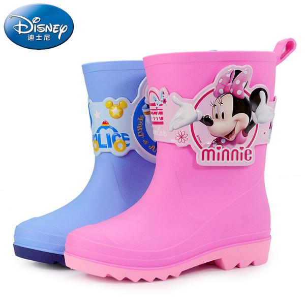 Botas de chuva das crianças 3D rato dos desenhos animados menino sapatos de água meninas botas de chuva crianças Anti-skid sapatos de borracha do bebê