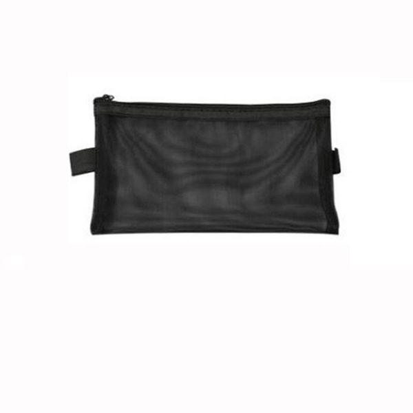 Simple Transparent Mesh Pencil Case Nylon Women Cosmetic Make Up Storage Bag Lipstick Eyeliner Carrying Holder 170pcs
