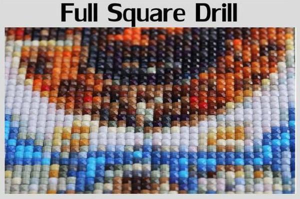 Couleur: squre drill