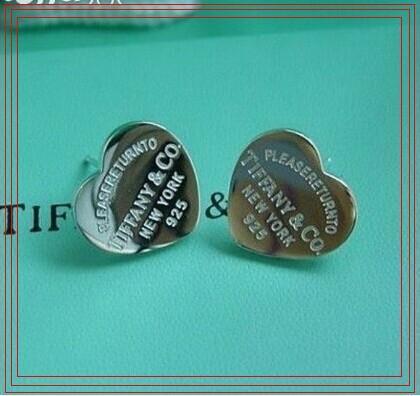 Compatible avec Pandora boucles d'oreilles Tiffany925 boucles d'oreilles en argent Sterling Coeurs Pour Femmes Style Européen Bijoux Original Mode Charm