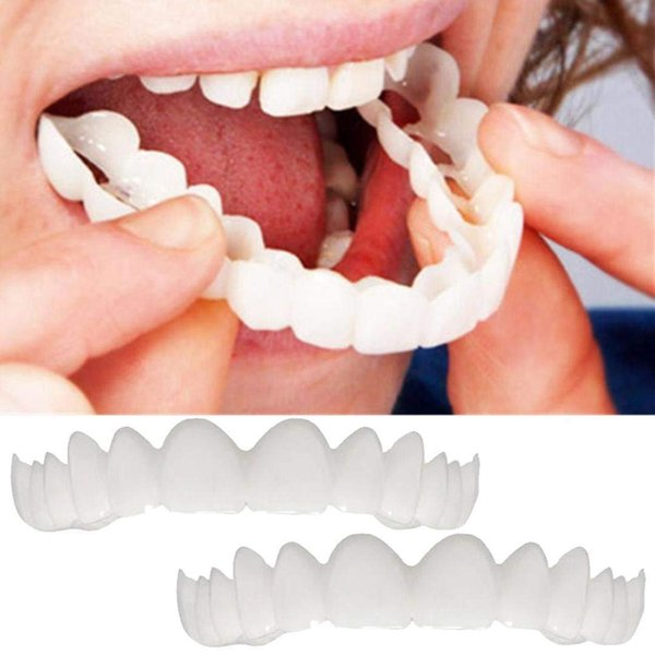 Dientes de silicona snapon para chapas de diente malo Productos de cuidado bucal Protector a presión Etiqueta de diente Herramienta de protección de llaves de silicona FFA1879