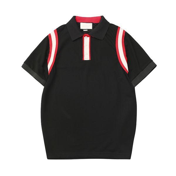 2019 Hommes Designer Poloshirt Été O Cou À Manches Courtes T-shirts Marque Lettre Broderie Mode Blouse Polos À Manches Courtes Tee S-2XL