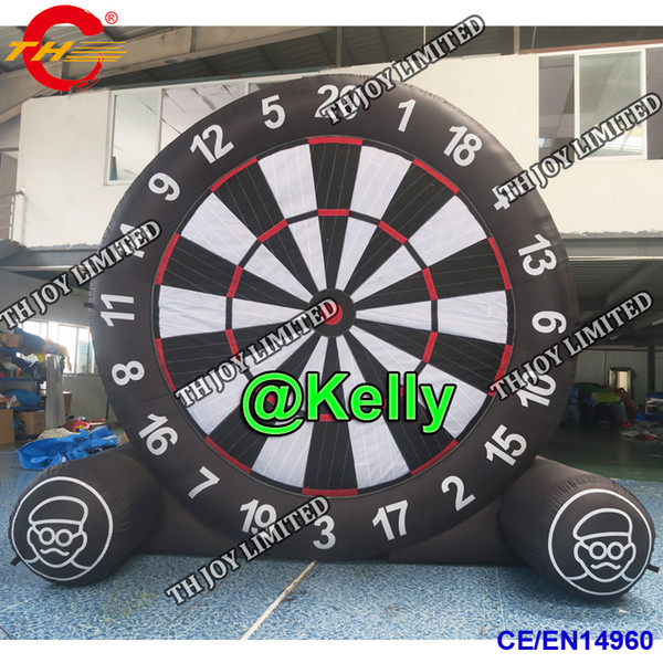 top popular free air shipping 5m 16.5ft high giant inflatable dart board for sale, portable inflatable soccer football dart sport game 2021