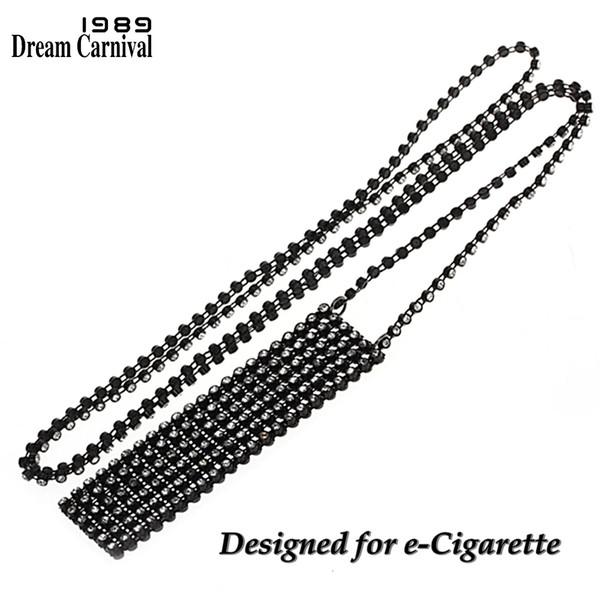 Juul Elektronik Sigara Aksesuarları Özelleştirme DP0902B için DreamCarnival 1989 Kadınlar Kristaller kolye Uzun Kolye Tutucu Kılıfı