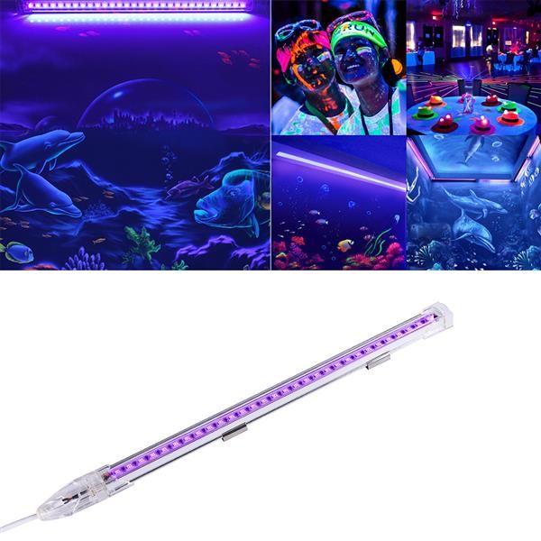 Luci LED UV Bar Black Light 9W portatile Blacklight lampada Linkable Lanterna di illuminazione per Halloween UV di arte, Poster, Party, Festival, Ultravi
