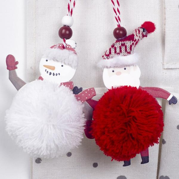 Pequena Boneca de Pelúcia Bonito Pingente de Natal Ornamentos de Gota Árvore de Natal Decorações Penduradas Presente