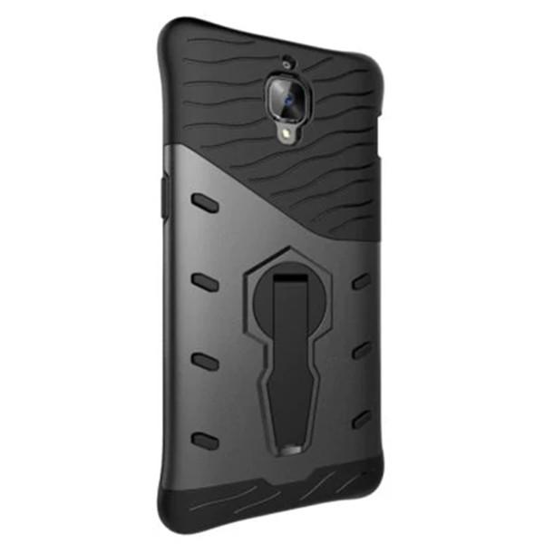 OnePlus 3/3 T için TPU Arka Kapak Tampon Mobil Durumda Koruyucu Telefon Braketi
