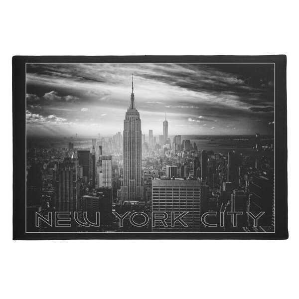 Modern Black White New York City Floor Rug Carpet Classic New York Welcome Door Mat Anti-slip Rubber Entry Doormat Home Decor