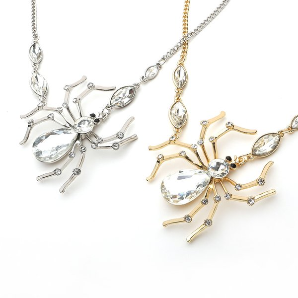 Spider Jewelry Set For Women Cubic Zirconia Long Dangle Earrings and Necklace Set Fashion Jewelry Cute Christmas Gift Chic Jewelry Set