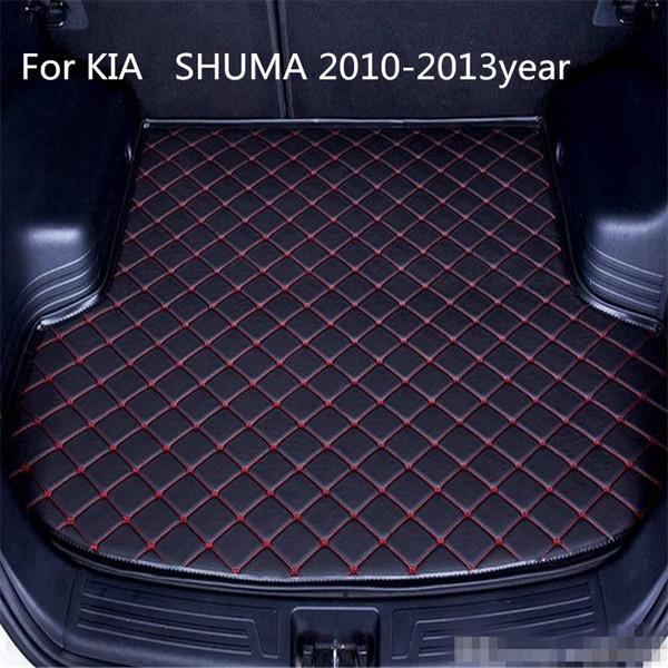 Для KIA Shuma 2010-2013year сек автомобилей противоскольжения коврик багажного отделения водонепроницаемый кожаный Ковер автомобиля коврик багажного отделения Flat Pad