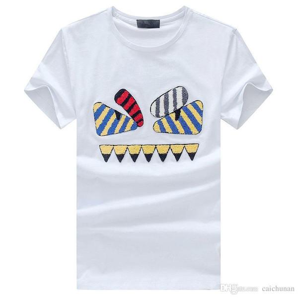 M5086 New Mon Mens T-Shirt Summer T Shirt British French Style Maniche corte Tee Hommes da uomo Chemise