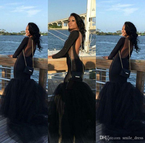 mermaid burgundy prom dresses long sleeve 2015 sexy arabic backless long sleeves beaded mermaid evening prom dress red prom dress