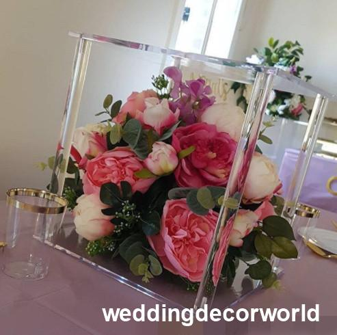 New style clear flower stand wedding decorative columns acrylic vase marriage table centerpiece decoration home decor decor1131