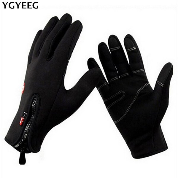 ygyeeg bike gloves winter thermal windproof warm full finger cycling glove anti-slip bike bicycle gloves for man woman - from $26.88