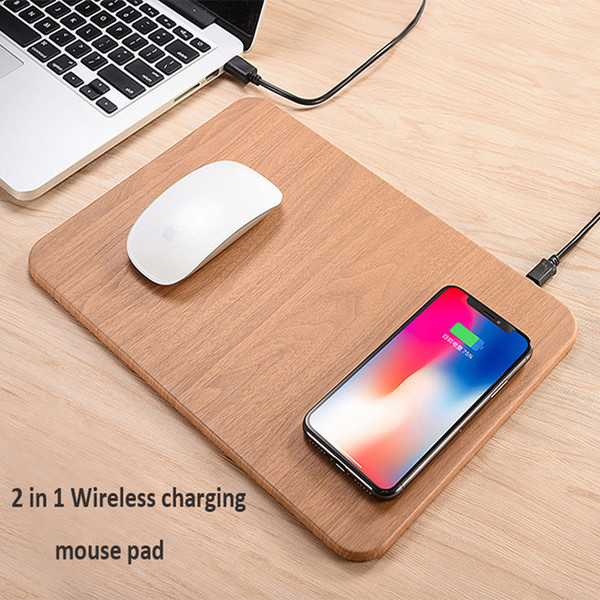 PU Leather Multifunctional Wireless Fast Charging Mouse Pad QI Standard Multi-function Desktop Ultra-thin For Smart Phone High Quality