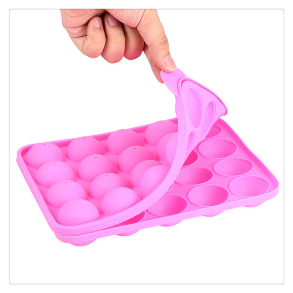 Baking Moulds Cake Stick Mould Silicone Tray Lollipop Party Cupcake Baking Mold Pink Kids Themed Parties Birthday Kitchen