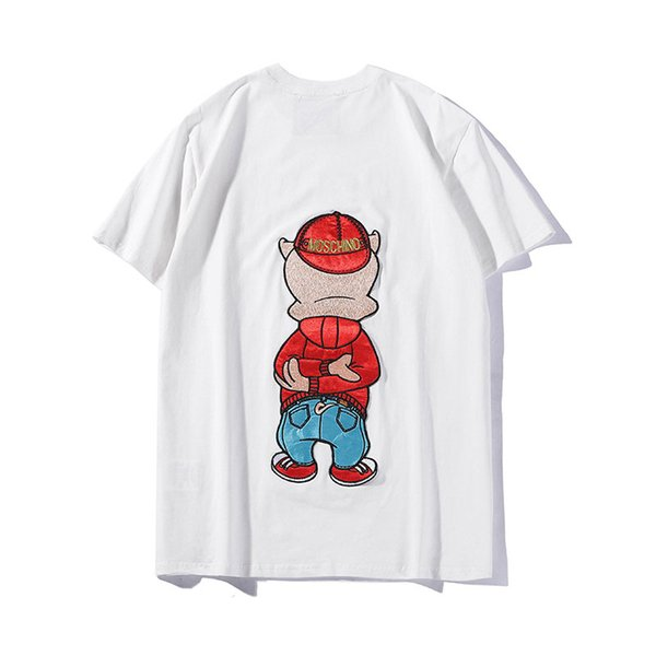 Designer Men T Shirt Luxury Cute Cartoon Pattern Casual Brand T Shirt Round Neck Short Sleeve Luxury Design Shirts Brand Summer Tee