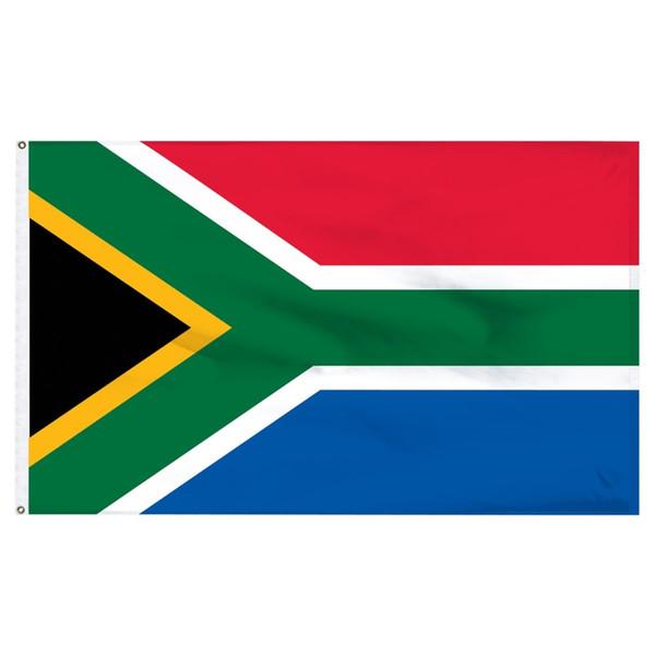 Livraison gratuite en gros prix usine 100% polyester 90 * 150 cm ZA RSA SA drapeau de l'Afrique du Sud pour la décoration