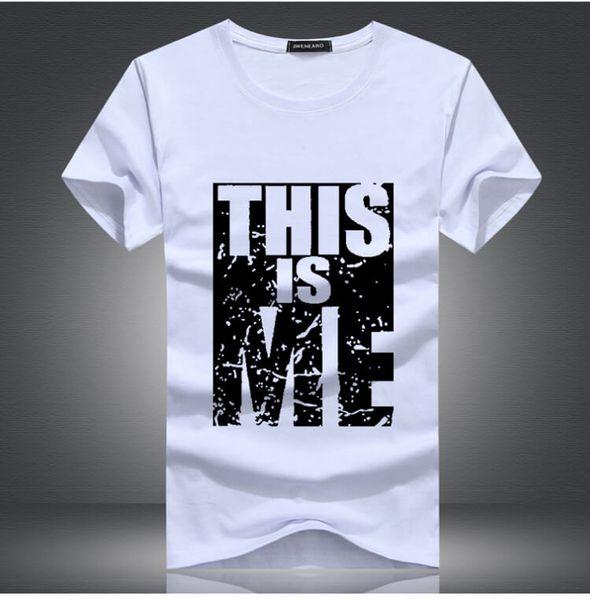 2018 nuovi vestiti di marca uomini tee Swag top di grandi dimensioni in cotone stampato uomo Uomo Fitness Hip Hop t-shirt da uomo WGTX128