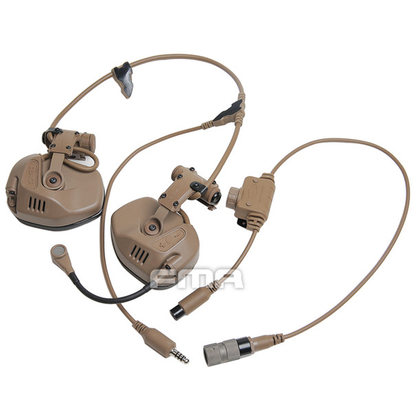 tactical headset rail attached communication noise reduction for fast helmet RAC Headset Noise Reduction Communication Headset + PTT