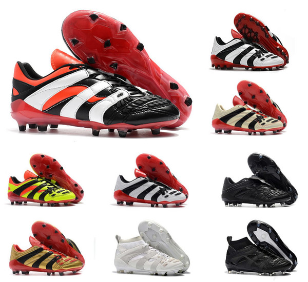 New 2018 Predator Accelerator Electricity FG DB AG David Beckham Becomes 1998 98 Men soccer shoes cleats football boots Size 39-45