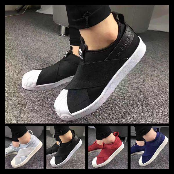 Designer shoes Adidas men women Ücretsiz kargo Fabrika Fiyat Yaz Erkek Kadın Shell Toe Siyah Beyaz Düşük Nefes Ayakkabı Süperstar Çapraz Kayış Rahat Ayakkabılar Üzerinde Kayma