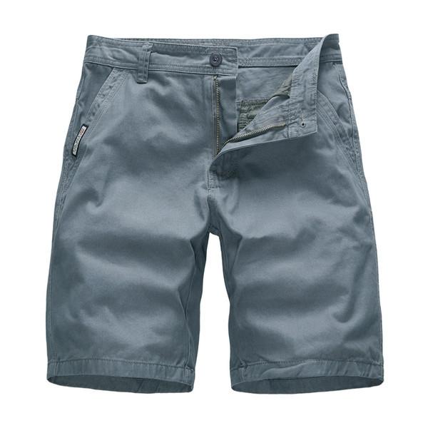 Summer Casual Shorts Cargo Shorts Men Sweat Short Pants Cotton Long Shorts Office Wear Solid Color Plus Size