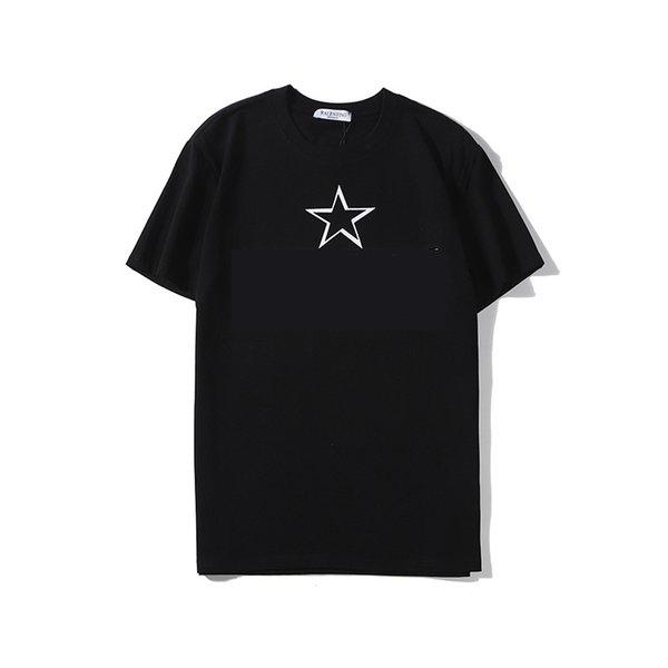L'arrivée de nouveaux T-shirt Mode féminine T-shirt homme avec lettre Imprimer Crew Neck Casual respirante Vêtements de plein air noir et blanc Taille S-2XL