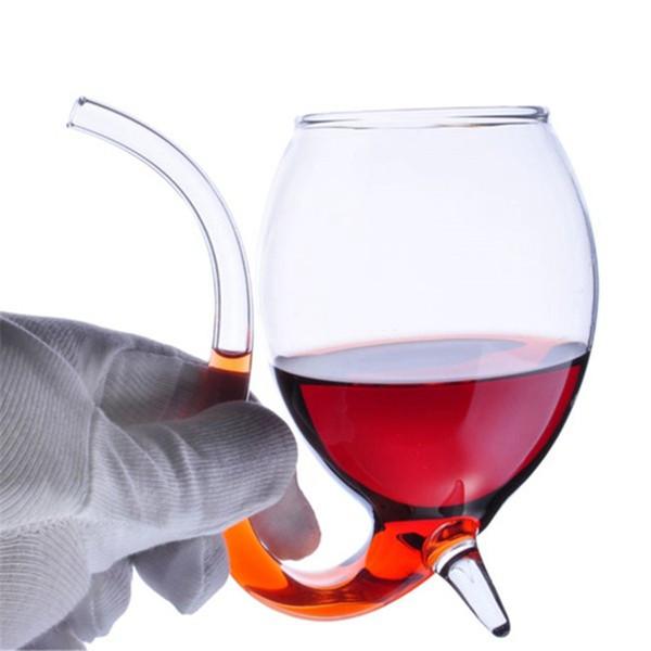 Heiße Verkäufe spezieller 300ml Rotwein-Kaffee-Milch-Becher mit Stroh hitzebeständigem Tee-Getränk-Becher transparentem Drinkware-perfektem Handwerks-Geschenk