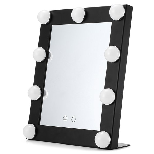 Ampuller İthalat Cam ile Masa Kare Tek LED Model Taşınabilir Makyaj Aynası