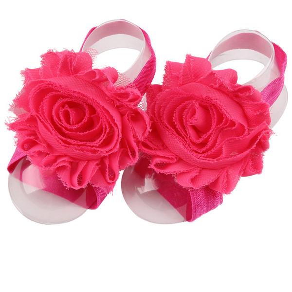 핫 핑크 BABY 맨발 신발