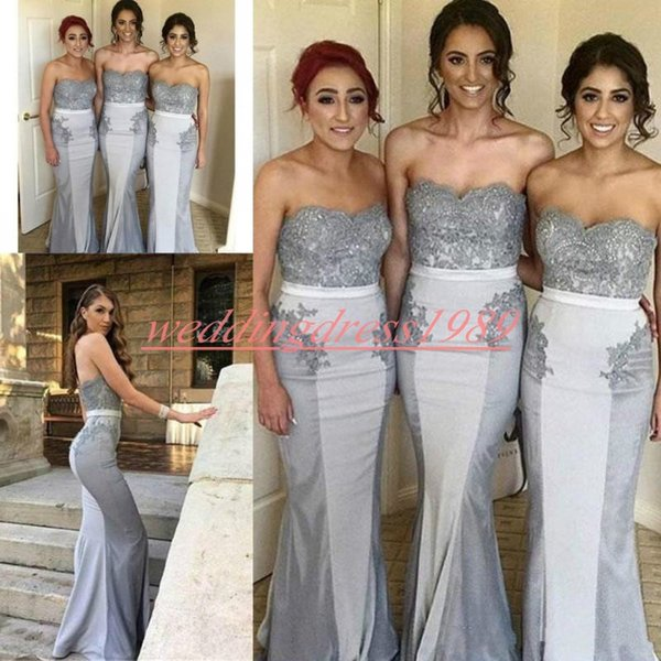 Trendy Sheath Lace Bridesmaid Dresses Juniors Satin Plus Size Maid Of Honor  Dress Prom Dress Evening Party Gowns Formal Wedding Guest Wear Cadbury ...