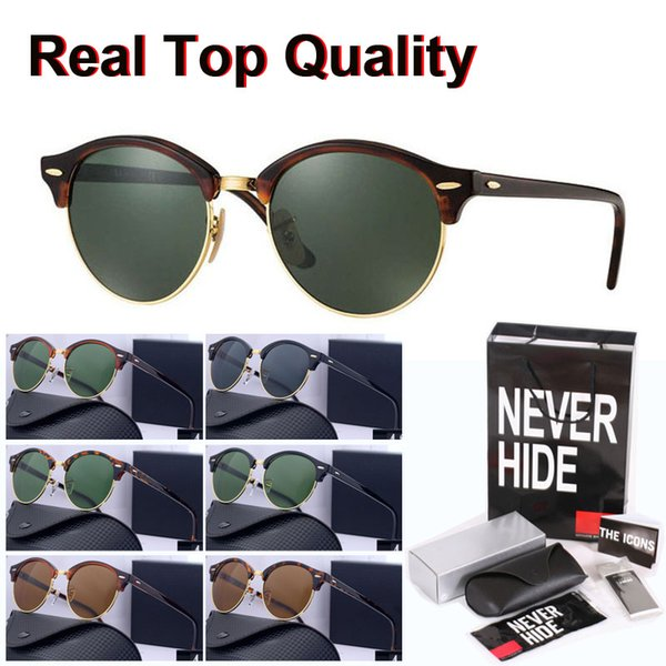 (glass lens) brand sunglasses men women cat eye coating sport sun glasses with original box, packages, accessories, everything thumbnail