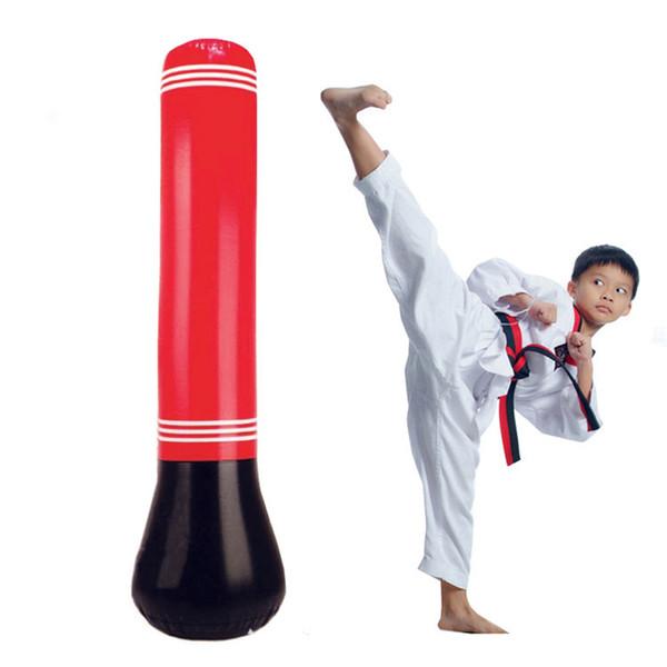 Yetişkin Çocuklar için Çanta Delme Bag Fight 1.5M Şişme Tumbler Eğitim Spor Boks Kum torbası Kongfu Panda Asma Kick