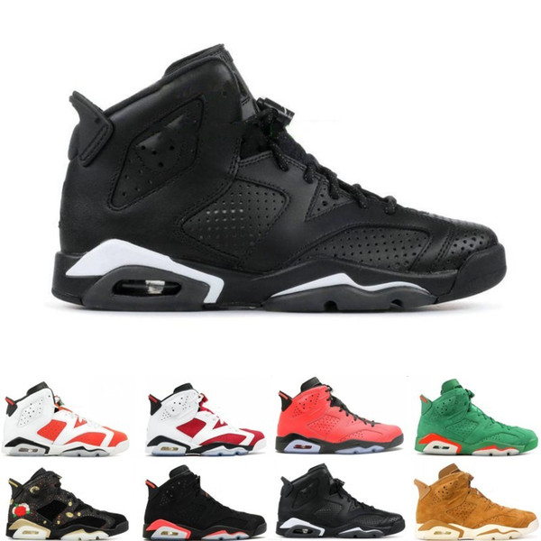 Best 6 6s Mens Basketball shoes man unc Black Cat Infrared sports blue Maroon Olympic Alternate Hare Oreo Angry bull Sport designer sneakers
