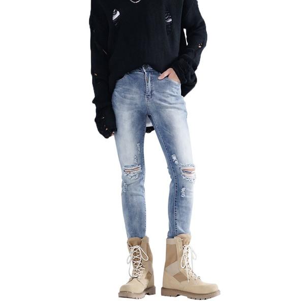 2019 neue marke dünne jeans mens kleidung streetwear punk zerrissene jeans für männer denim hosen pantalones hombre para hombre 20