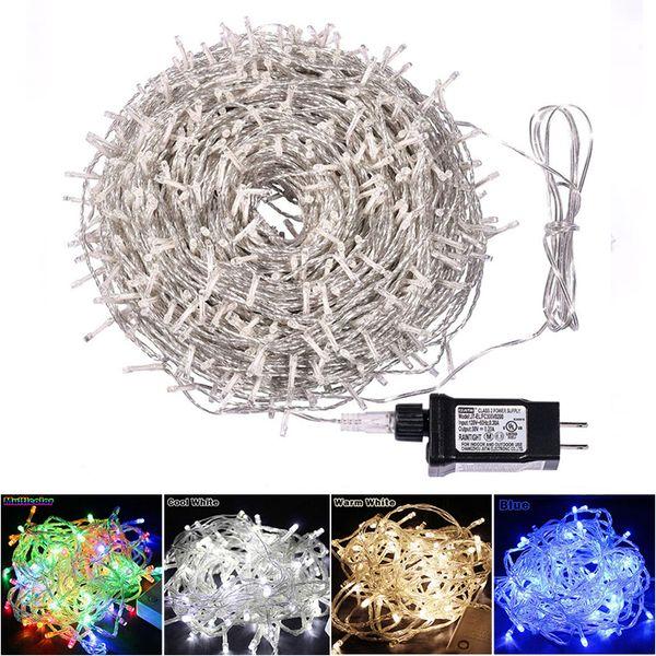 100 M 800 LED String Luz de Fada 24 V 8 Modos de Luz À Prova D 'Água LEVOU Luz de Natal para o Casamento Ao Ar Livre Indoor Festival de Natal Decorativo