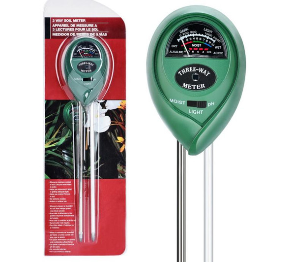 top popular 3-in-1 Soil Moisture Meter for Gardening Farming with PH Acidity Moisture Sunlight Testing Garden Lawn Plant Pot Sensor Tool SN1475 2021