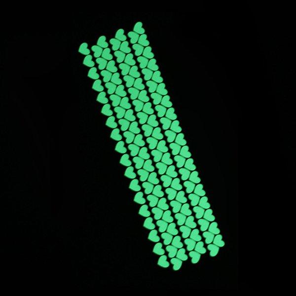 126pcs heart green